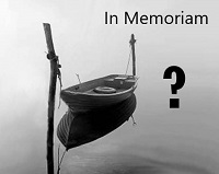 boat and call for donations to prize page In Memoriam