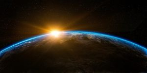 Earth with sunrise
