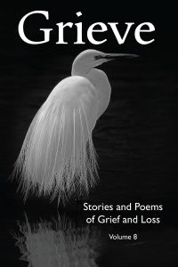 grieve vol 8 anthology front cover showing bird with breeding feathers - great egret