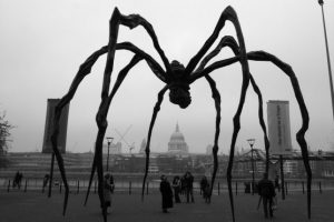 giant spider sculpture titled Maman by Louise Bourgeois, , 1990